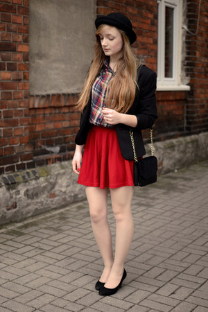 red OASAP skirt