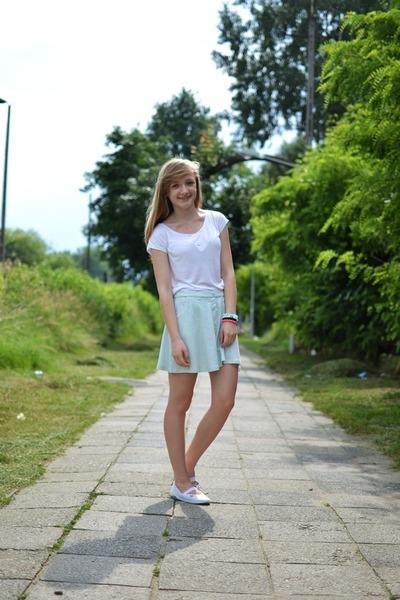 light blue Bershka skirt