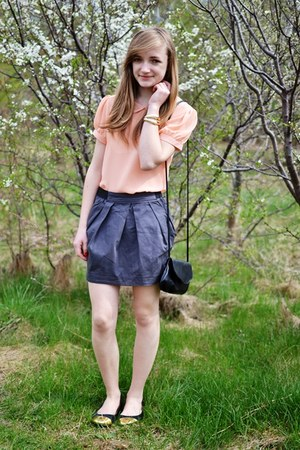 heather gray cropp skirt