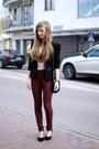 Brick-red-vero-moda-pants