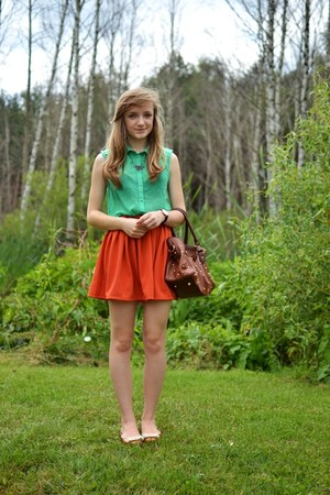 orange Wholesale-Dress skirt