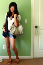 Hanes shirt - Buffalo Exchange shorts - f21 vest - shoes