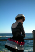 bardot top - DIY skirt - Forever New shoes - Myer hat - Mimco purse