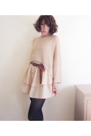 slouchy knit Somedays Lovin sweater - amelie Style Sofia skirt - boyfriend asos 