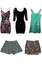 Mink Pink dress - Mink Pink dress - Valley Girl dress - Topshop shorts - bardot