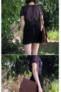 Purple-sretsis-blouse-black-valley-girl-skirt-brown-joanne-mercer-shoes-br