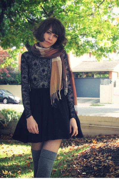 black Mulberry flats - black addict skater Style Stalker dress
