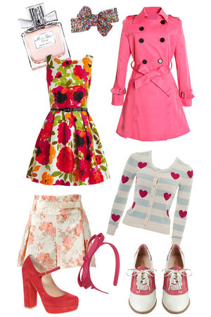 hot pink floral modcloth dress - bubble gum belted trench romwe coat