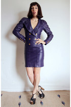 deep purple North Beach Leather dress
