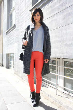 acne boots - Marc by Marc Jacobs coat - oversize tee t by alexander wang t-shirt