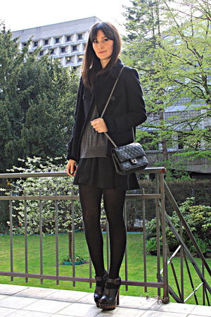 cape Zara jacket - clogs Zara shoes - H&amp;M skirt