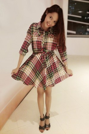 cropped plaid OASAP dress