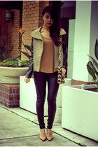 mustard Generation Love jacket - black growze leggings - tawny ALC shirt