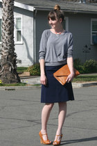 vintage purse - vintage skirt - restricted heels - vintage necklace