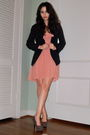 Pink-jcrew-dress-gray-forever-21-shoes-black-charlotte-russe-blazer