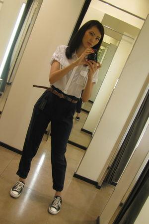 Zara blouse - Zara pants - Converse shoes