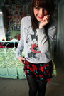 Minnie-mouse-sweater-american-apparel-dress