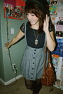 Navy-forever-21-lace-top-heather-gray-thrifted-skirt-black-urban-outfitters-
