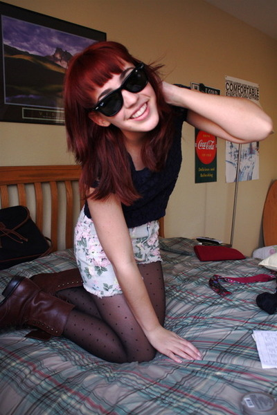 Urban Outfitters boots - Forever 21 shorts - Forever 21 top