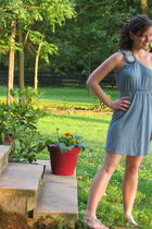 blue francescas dress - silver JCrew old shoes