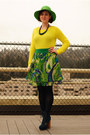 Navy-steve-madden-boots-lime-green-hat-yellow-gap-sweater