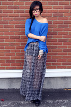 Forever 21 sweater - back off boot Jeffrey Campbell boots - Forever 21 skirt