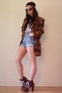 Brown-lita-jeffrey-campbell-boots-coral-aztec-print-vintage-blazer