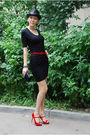 Black-alexander-wang-dress-black-eugenia-kim-hat-red-dune-shoes-red-dune-b
