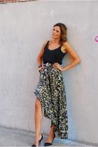 leopard print Mango skirt