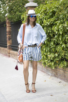 Zara shorts - kalma bag - Zara blouse