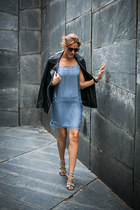 intimissimi dress - Zara jacket - Aquazzura heels