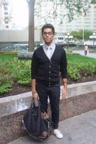 H&M shirt - le chateau tie - American Apparel top - Zara jeans - Converse shoes