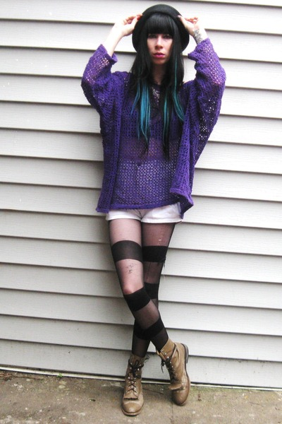 purple vintage sweater