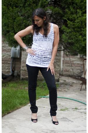 Forever21 shirt - Forever21 jeans - Forever21 bracelet - franco sarto shoes