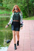 Sheinside blazer - Zara shoes - asos shirt - wowvintage sunglasses