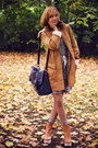 Mustard-parka-vila-coat-checkered-mango-dress-navy-satchel-topshop-bag