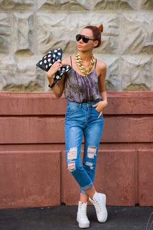 Choies bag - Sheinside jeans - zeroUV sunglasses