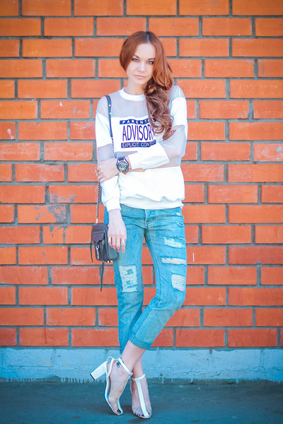 Choies jeans - Rebecca Minkoff bag - Choies hair accessory - Choies sweatshirt