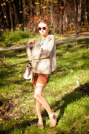 Dualshine necklace - WOAKAO sweater - Chicwish bag - Choies sunglasses