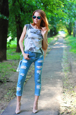 Sheinside jeans - PERSUNMALL bag - zeroUV sunglasses