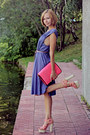 Hot-pink-river-island-bag-light-purple-silk-selected-dress