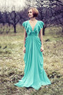 Turquoise-blue-chiffon-msdressy-dress