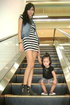 gray cotton on boots - silver Forever 21 dress - black babys outfit SM shirt