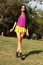 Black-suede-cotton-on-boots-mustard-random-shorts