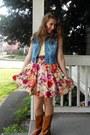Boots-jacket-blouse-skirt