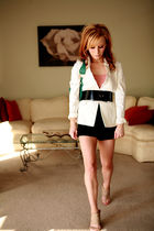 beige Alexander Wang shoes - white cheap ebay find Chicos blazer