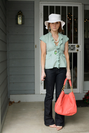 Anthropologie Odille blouse - J Crew shoes - J Crew accessories - Target hat