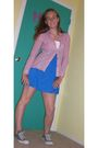 Blue-forever-21-dress-pink-billabong-top-silver-drugstore-accessories-gray