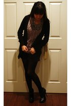 black Tracy Feith for Target shorts - gray JCrew top - black Forever 21 cardigan