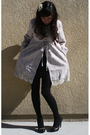 Silver-modcloth-coat-black-american-apparel-dress-black-forever-21-tights-